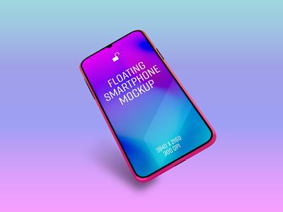 Floating Smartphone Mockup photoshop app design mockup mobile smartphone