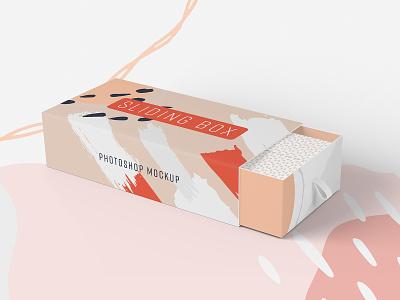 Sliding Box Photoshop Mockup product marketing packaging box mockup photoshop