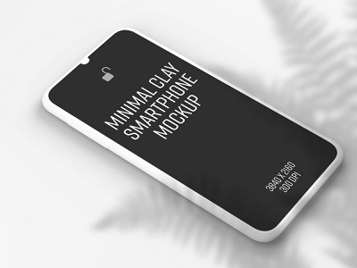 Minimal Clay Smartphone Mockup smartphone mobile app design mockup photoshop