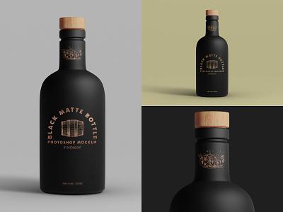 Black Matte Bottle Mockup matte black bottle mockup photoshop