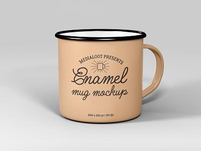 Enamel Mug Mockup photoshop mockup coffee cup enamel mug