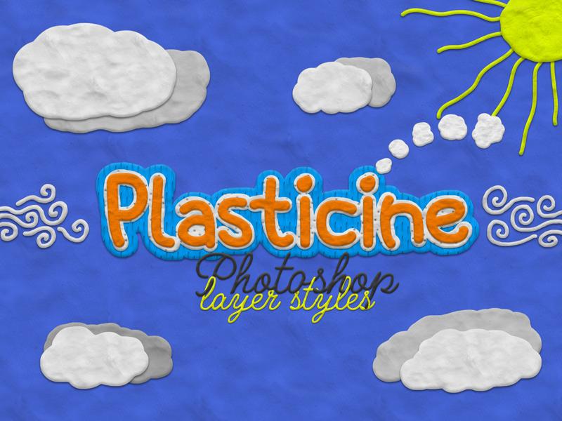Plasticine Clay - Photoshop Layer Styles photoshop layer styles clay plasticine