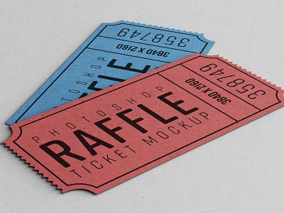 Raffle Ticket Mockup raffle ticket mockup photoshop