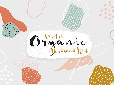 Vector Organic Abstract Kit organic abstract patterns vector hand drawn