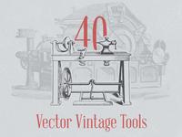 Vector Vintage Tools