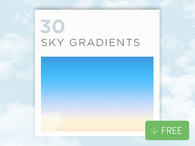 30 Free Photoshop Sky Gradients layer style sky photoshop gradients
