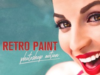 Retro Paint Photoshop Action