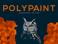 Polypaint Photoshop Action