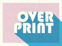 Overprint Photoshop Mockup