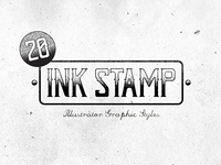 Ink Stamp Illustrator Graphic Styles