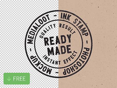 Free Ink Stamp Photoshop Mockup ink stamp mockup photoshop