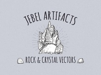 Jebel Artifacts Rock And Crystal Vectors
