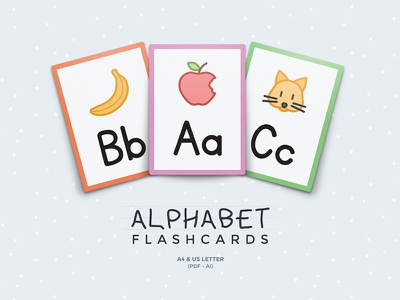 Alphabet Flashcards printable flashcards flashcard templates kids education alphabet flashcard