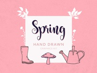 Hand Drawn Spring Graphics