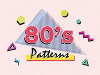 80s Retro Seamless Vector Patterns