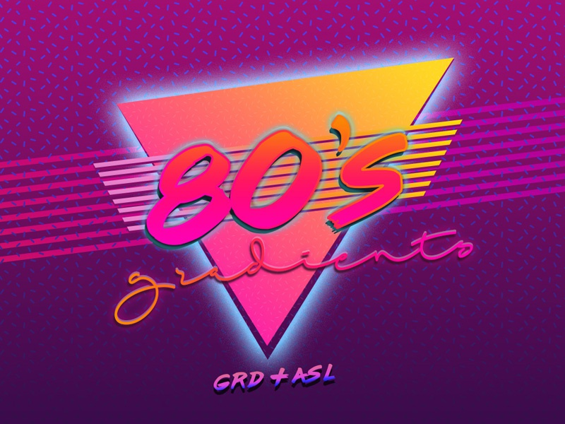Retro 80s Gradients for Photoshop by Diego Sanchez for