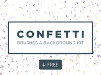 Confetti - Free Brushes And Background Kit