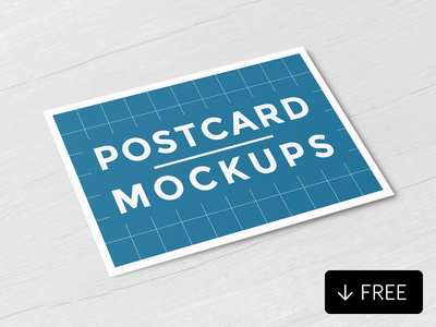 Free Postcard Mockups photoshop mockup greetings marketing event places travel promotional mockup postcard