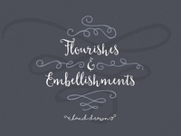 Hand Drawn Flourishes Embellishments
