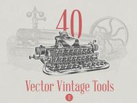 Vector Vintage Tool Illustrations - Vol. 2