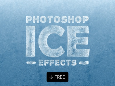 Ice Effects For Photoshop Text Shapes frozen photoshop ice layer styles snow winter cold ice effect
