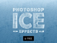 Ice Effects For Photoshop Text Shapes