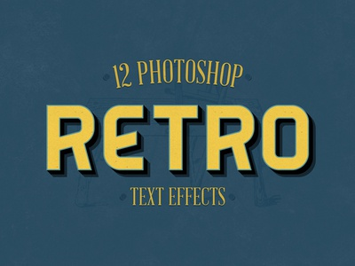 Retro Photoshop Effects 3d text retro styles vintage photoshop mockup text effects retro