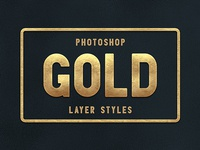 Photoshop Gold Layer Styles