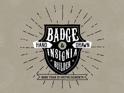 Hand Drawn Badge And Insignia Builder sunburst hand drawn logo insignia badge