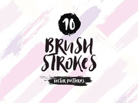 Brush Strokes Vector Patterns
