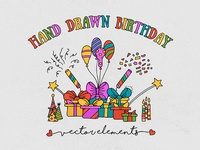 Hand Drawn Birthday Elements