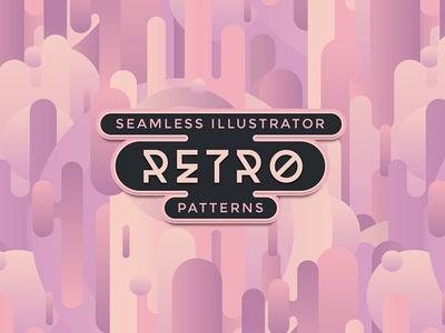 Retro Illustrator Patterns seamless vector patterns patterns 70s 60s retro vintage retro patterns