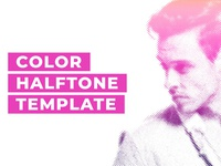 Color Halftone Template