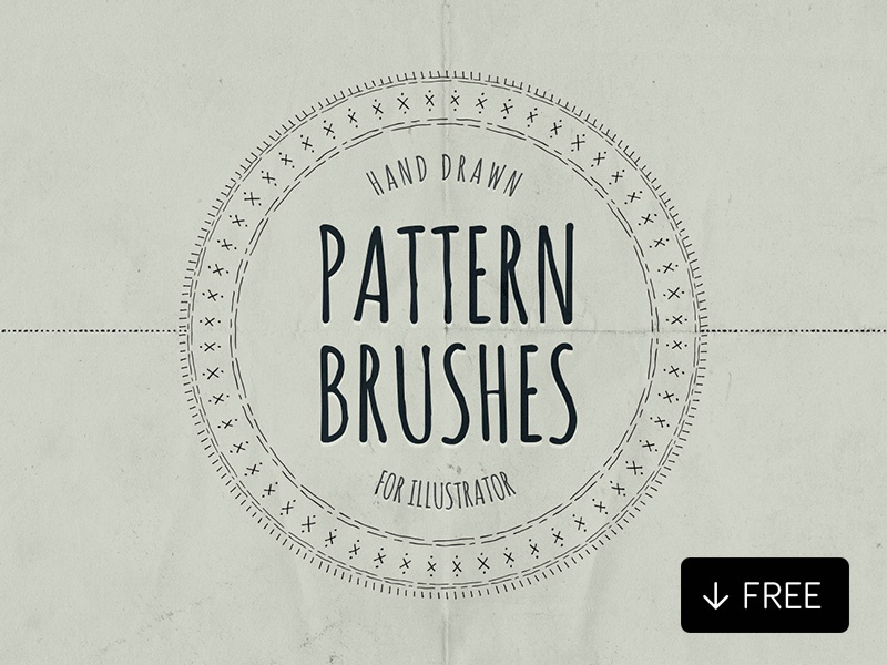 Hand Drawn Pattern Brushes Illustrator by Diego Sanchez for