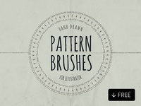 Hand Drawn Pattern Brushes Illustrator