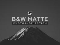 Black & White Matte Photoshop Action