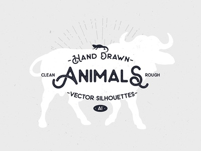 Hand Drawn Animal Silhouettes