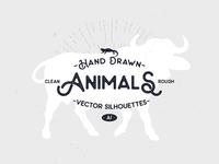 Hand Drawn Animal Silhouettes