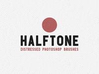 Halftone Distressed Photoshop Brushes