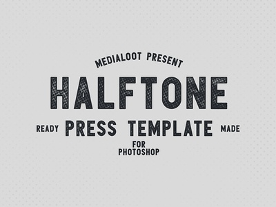 Halftone Press Template