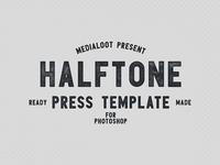 Halftone Press Template