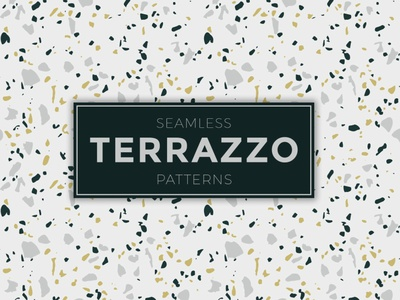 Seamless Terrazzo Patterns illustrator tileable seamless pattern terrazzo