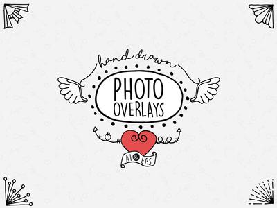 Hand Drawn Photo Overlays