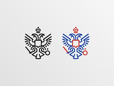 Coat of arms of Russia vector design icon coatofarms