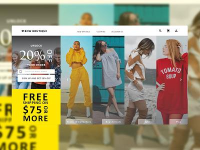 UI Project 03 freelance designer freelance design graphic design graphicdesign web designer boutique fashion fashion design grids grid minimalist design minimalism minimalistic clean web design design web uidesign webdesign