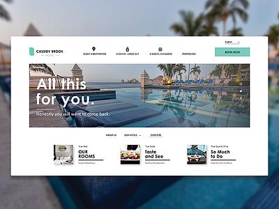 UI Design Project design minimalism minimalist holiday vacation landing page uidesign ui design clean simple webdesign website hotels hotel