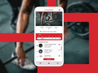 Adobe XD daily Creative Challenge yoga gym excercise calendar scheduler workout clean ui clean phone app responsive design webdesign