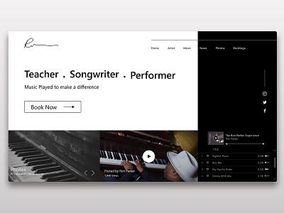 Web design ui ui design uidesign music web minimalism clean design clean website minimalist design landing page webdesign