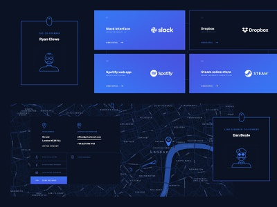 Web Development Agency - Design Elements illustration map contact ui lines design webdesign minimal simple clean