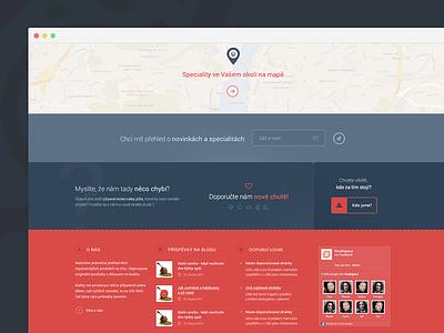 Extended footer - Foodspace footer clean minimal simple food pink website web design